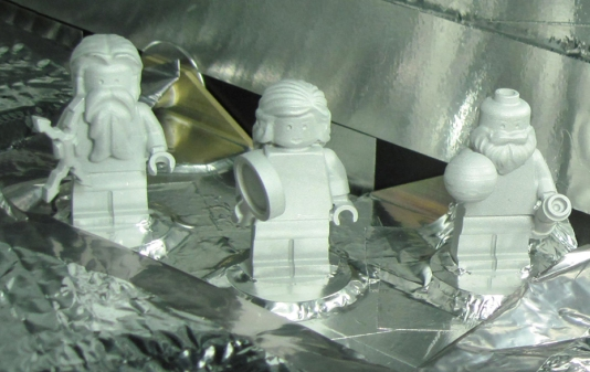 Lego Figurines en route to Jupiter