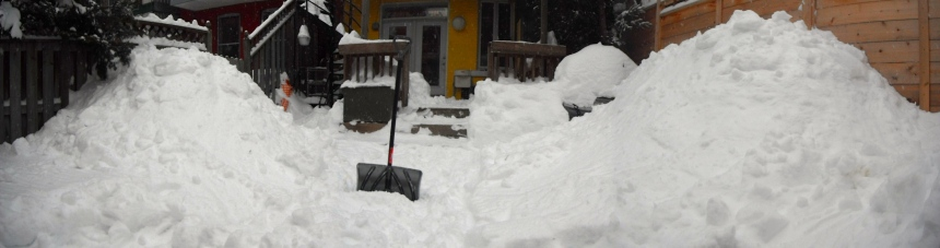 There's still more snow to be shoveled on, and more to come.