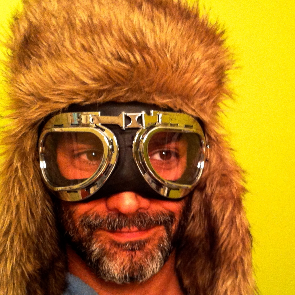 Borrowed my son's hat and steampunk goggles, had a bit of fun. :)