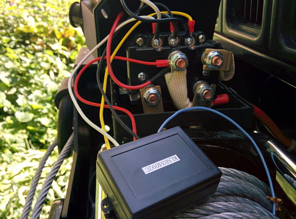 Wiring for wireless controller for Superwinch LP8500